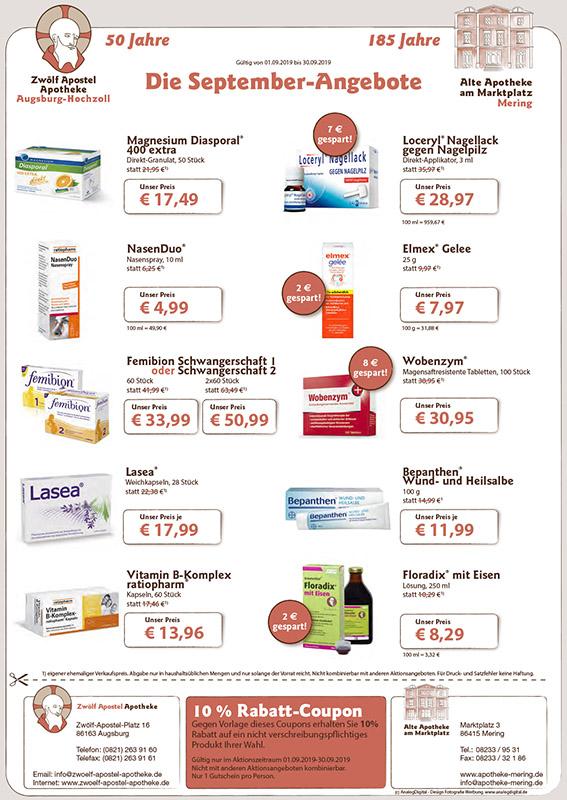 Alte Apotheke am Marktplatz Mering: Monatsaktionen August 2018