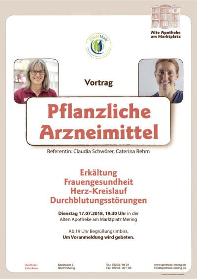 Alte Apotheke am Marktplatz - Vortrag Pflanzliche Arzneimittel