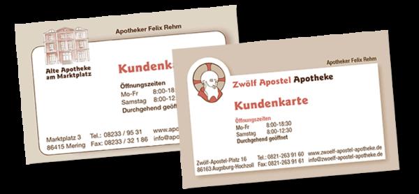 Kundenkarte Alte Apotheke am Marktplatz Mering