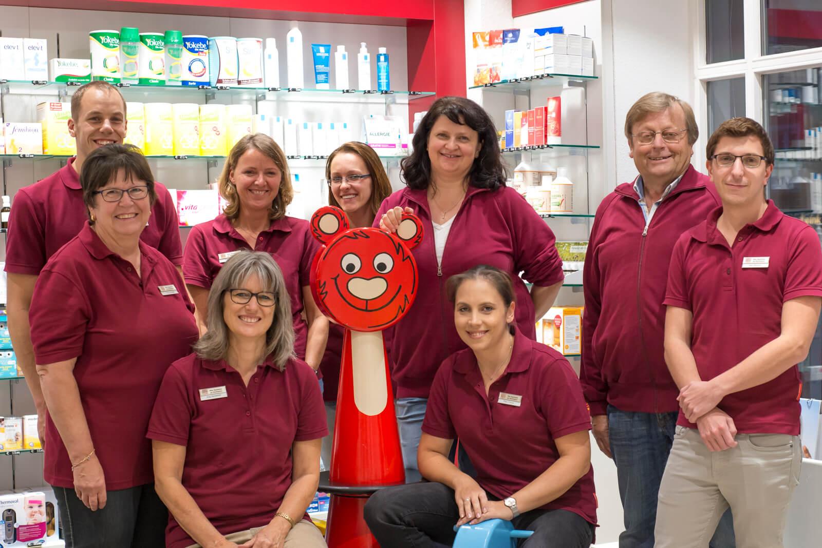 Teamfoto Alte Apotheke am Marktplatz Mering
